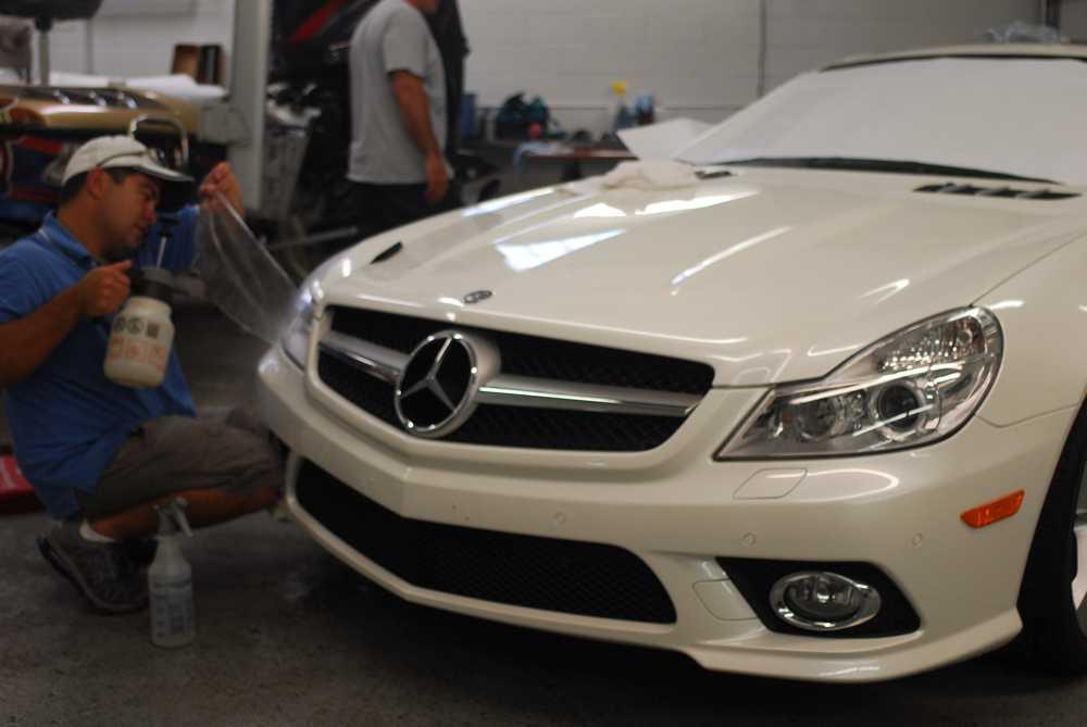 Mercedes benz sl midwest clear bra for Mercedes benz minneapolis