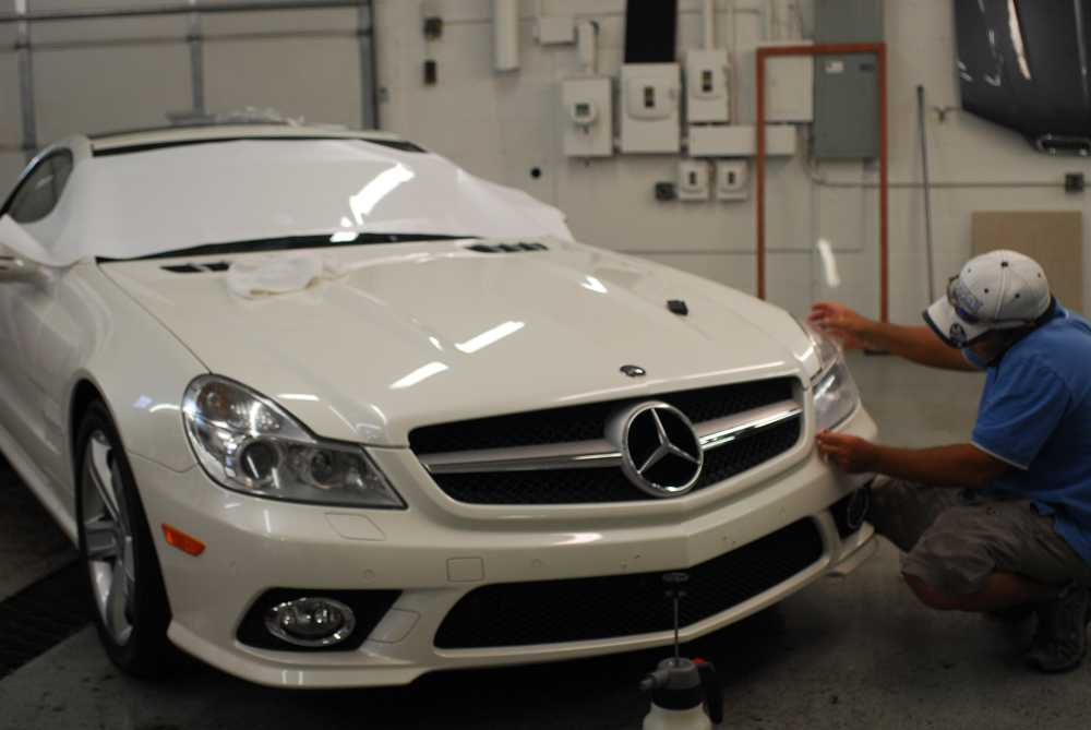 Mercedes benz sl midwest clear bra for Mercedes benz of rochester mn